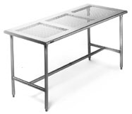 Perforated Stainless Steel Cleanroom Table